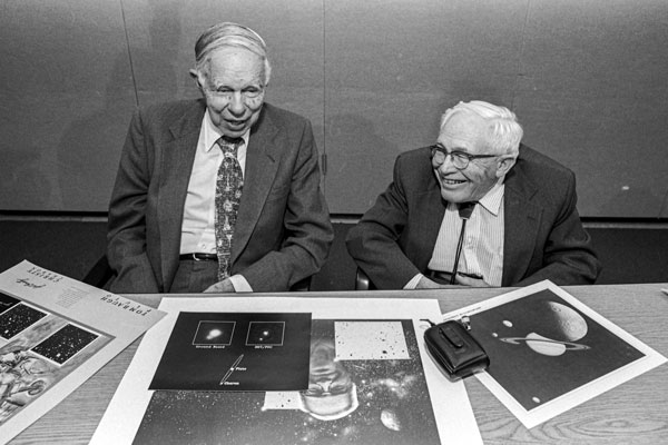 Glen Seaborg and Clyde Tombaugh