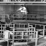 Randy in harness above Saturn accelerator