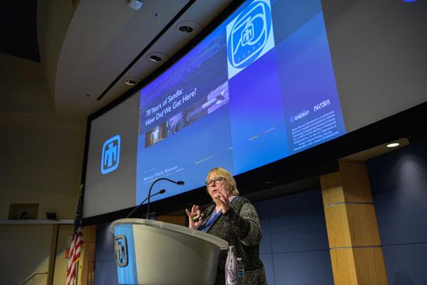 Rebecca Ullrich gives presentation