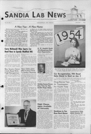 1954 Sandia newspaper