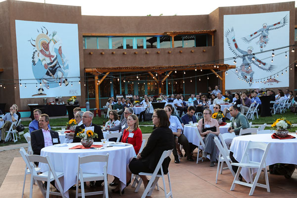 celebration attendees at the Indian Pueblo Cultural Center