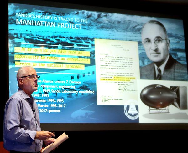 Mike Hardwick gives presentation