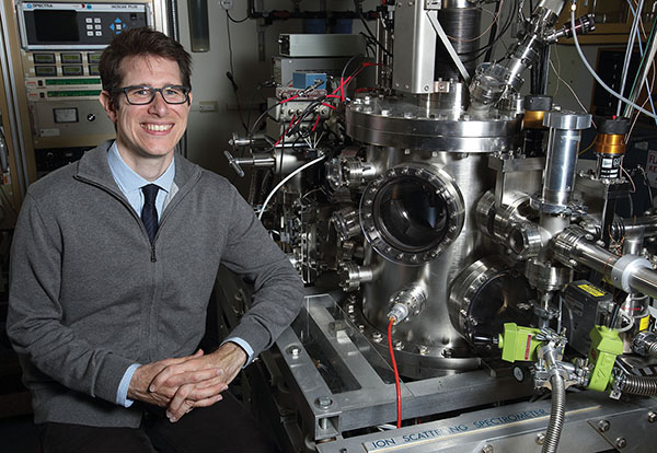 Robert Kolasinski has received a $2.5 million, five-year Early Career Research Program award from the DOE Office of Science.(Photo by Dino Vournas)
