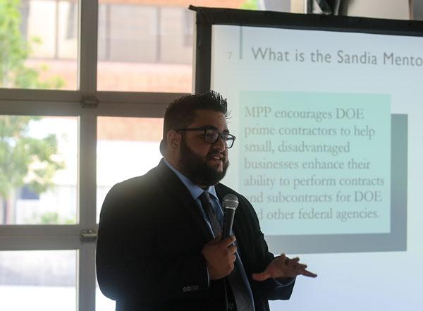 Paul Sedillo giving presentation