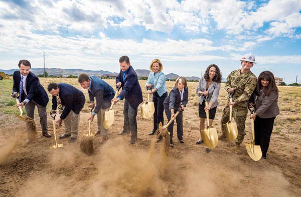 dignitaries dig first shovel-ful at NNSA complex groundbreaking