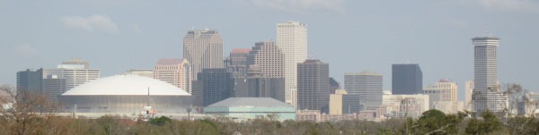New Orleans business district skyline