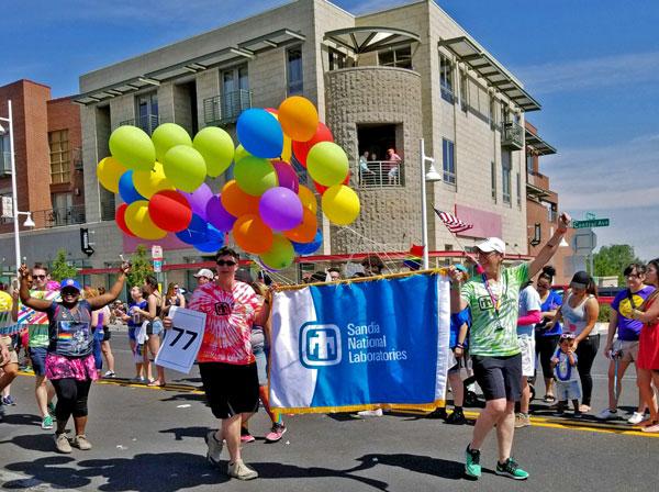 Sandians march in Pride parade