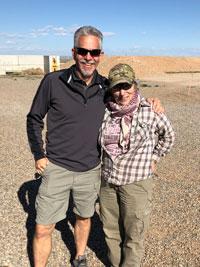 Manager Jake Deuel and volunteer Judy Ellis
