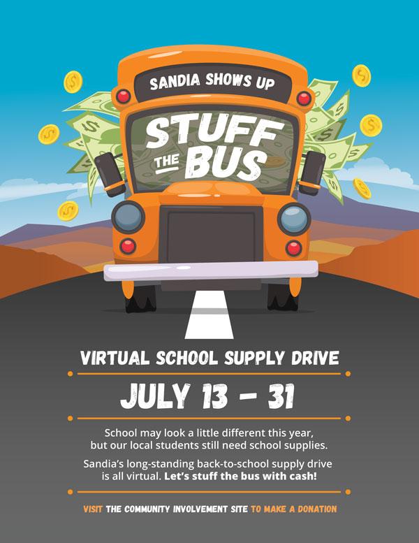school supply donation drive ad