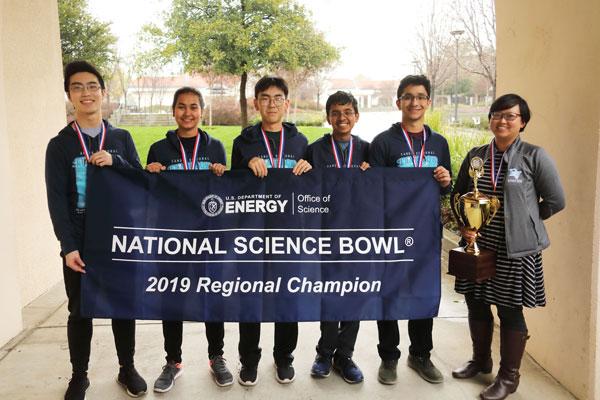 regional science bowl team members