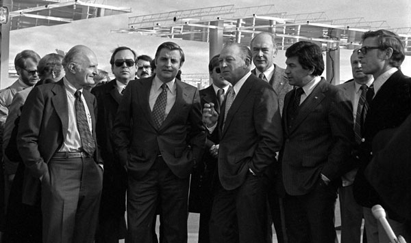 Vice President Walter Mondale visits Sandia's solar research facilities on January 10, 1978