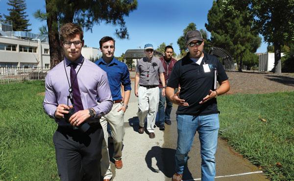 new-hires tour California campus