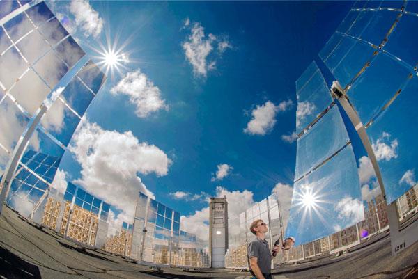 solar tower heat testing environment