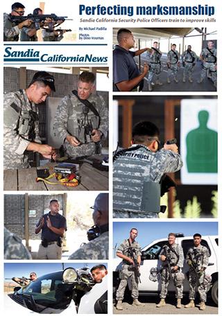 Sandia California Security Police Officers train to improve skills