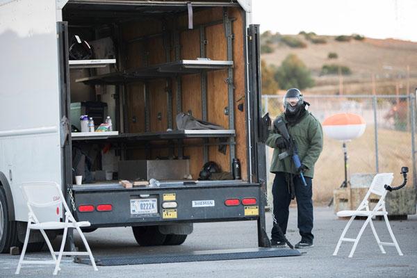 A shooter preps for the next arriving responder team.