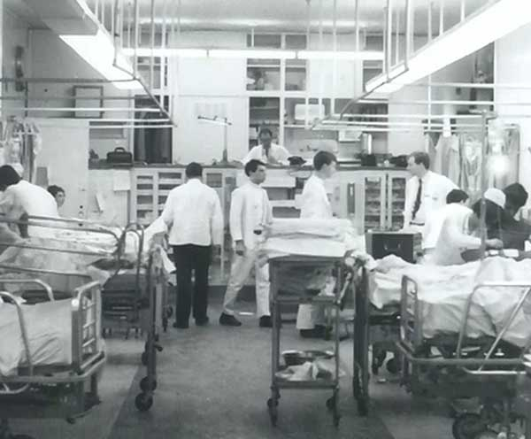 The Indian Health Service sent Dr. Vall to Bellevue Hospital in New York City in the late 1960s for training in pulmonary medicine.