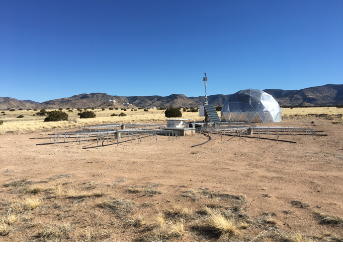 Wind filters study including an International Monitoring System (IMS) pipe array polyethylene hose and wind shielding-dome
