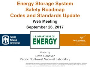 ESS Safety Roadmap Webinar 9-26-2017