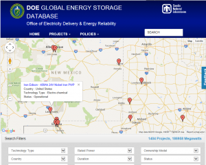 Global Energy Storage Database Map Search