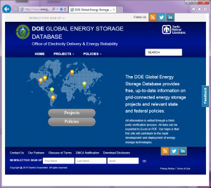 Global Energy Storage Database Website