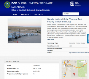 Global Energy Storage Database Project Details