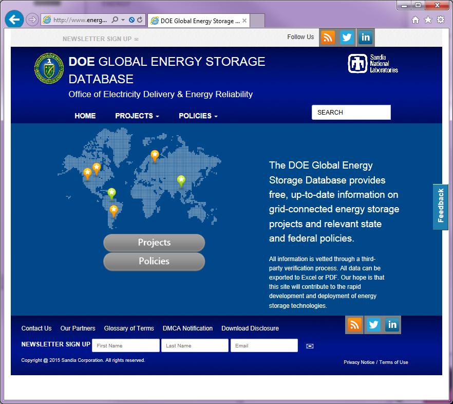 Global Energy Storage Database Website