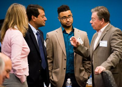 Left to right, Michelle Dallafior, Senior Policy Advisor, U.S. Dept. of Energy; Babu Chalamala, Manager, Sandia National Laboratories; Devin Gladden, Special Advisor, U.S. Dept. of Energy; and Bill Woldman, Field Representative, Office of Senator Tom Udall.